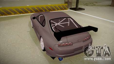 Toyota Supra RZ for GTA San Andreas back view