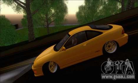 Honda Integra Type-R Hellaflush for GTA San Andreas back view