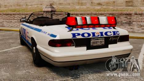 The convertible version of the Police for GTA 4 back left view