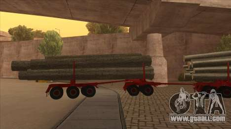 The middle part of the trailer-timber to Hayes H for GTA San Andreas right view