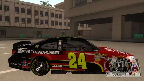 Chevrolet SS NASCAR No. 24 AARP for GTA San Andreas back left view