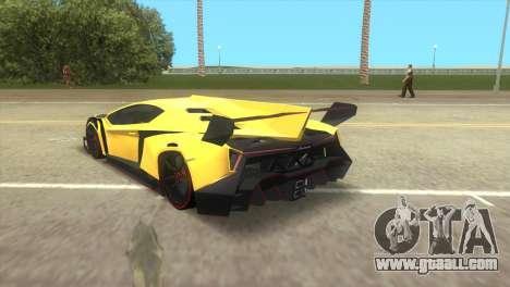 Lamborghini Veneno for GTA Vice City left view