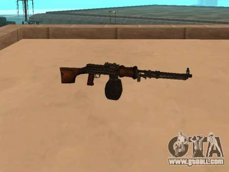 Light machine gun (RAP) [citation needed] for GTA San Andreas