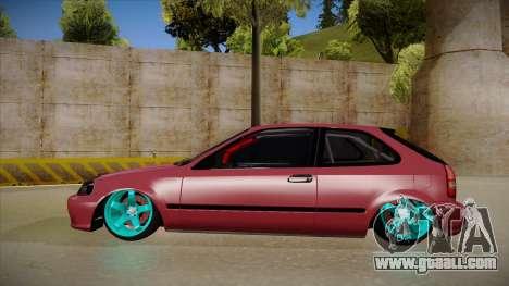Honda Civic EK9 Drift Edition for GTA San Andreas back left view