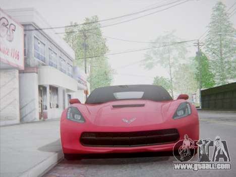 Chevrolet Corvette C7 Stingray 2014 for GTA San Andreas back view