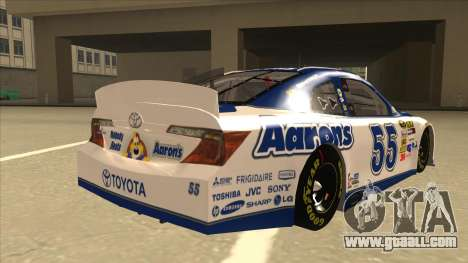 Toyota Camry NASCAR No. 55 Aarons DM white-blue for GTA San Andreas right view