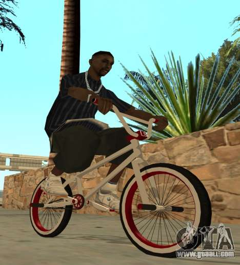 BMX for GTA San Andreas back left view