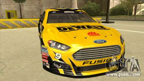 Ford Fusion NASCAR No. 9 Stanley DeWalt for GTA San Andreas left view