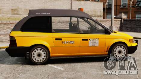 Improved taxi for GTA 4 left view