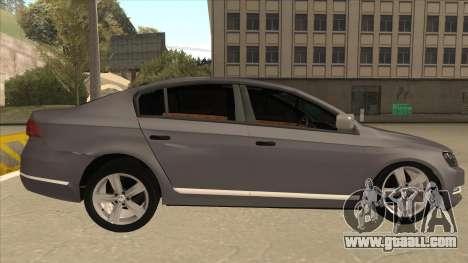 Volkswagen Passat 2.0 Turbo for GTA San Andreas back left view