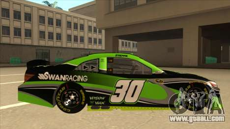 Toyota Camry NASCAR No. 30 Widow Wax for GTA San Andreas back left view