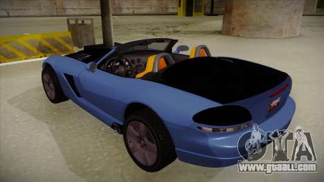 Dodge Viper v1 for GTA San Andreas back view