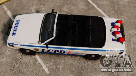 The convertible version of the Police for GTA 4 right view