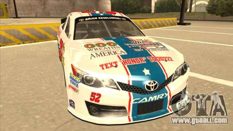 Toyota Camry NASCAR No. 52 TruckerFan for GTA San Andreas left view