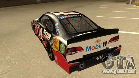 Chevrolet SS NASCAR No. 14 Mobil 1 Tracker Boats for GTA San Andreas back view