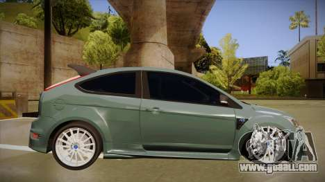 Ford Focus RS 2010 for GTA San Andreas back left view