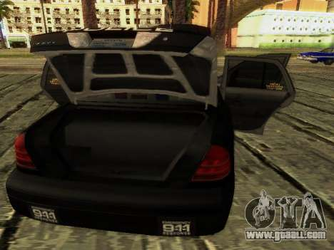 Ford Crown Victoria Police Interceptor for GTA San Andreas upper view