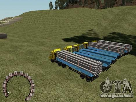 Timber Trailer for GTA San Andreas right view