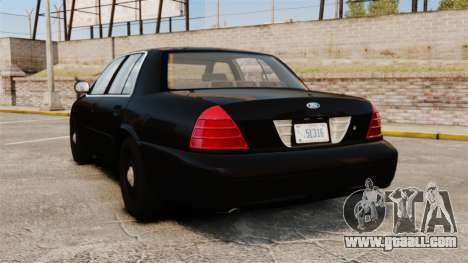 Ford Crown Victoria 2008 FBI for GTA 4 back left view