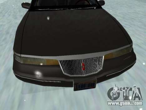 Lincoln Continental Mark VIII 1996 for GTA San Andreas bottom view