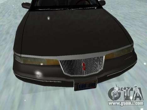 Lincoln Continental Mark VIII 1996 for GTA San Andreas bottom view