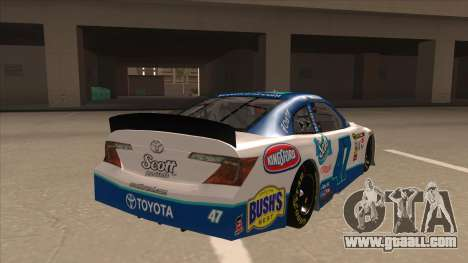 Toyota Camry NASCAR No. 47 Scott for GTA San Andreas right view