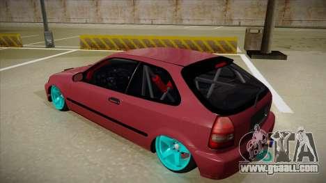 Honda Civic EK9 Drift Edition for GTA San Andreas back view