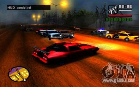 Hide HUD for GTA San Andreas third screenshot