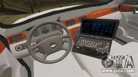 Chevrolet Impala BCSD 2010 [ELS] for GTA 4 back view