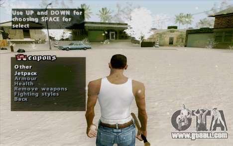 Weapons Menu Mod for GTA San Andreas third screenshot