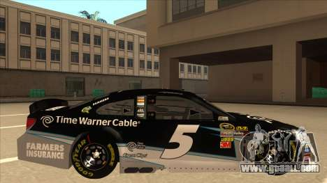 Chevrolet SS NASCAR No. 5 Time Warner Cable for GTA San Andreas back left view