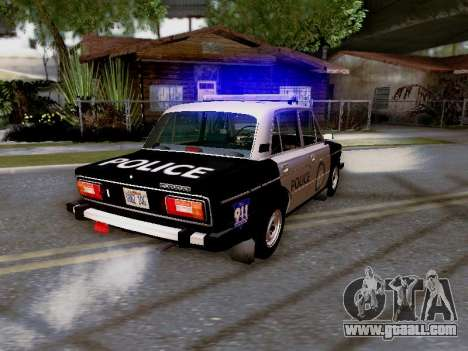 VAZ 2106 Los Santos Police for GTA San Andreas upper view
