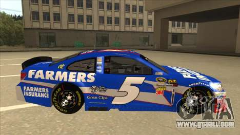 Chevrolet SS NASCAR No. 5 Farmers Insurance for GTA San Andreas back left view