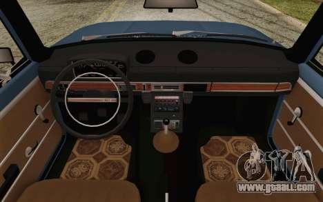 VAZ 21011 Aeroflot for GTA San Andreas inner view