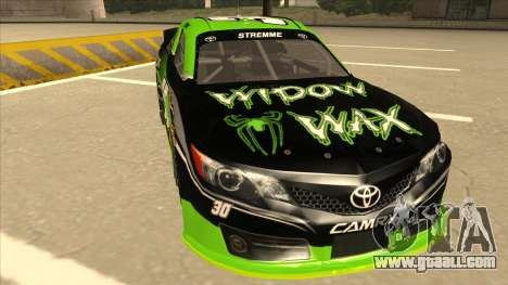 Toyota Camry NASCAR No. 30 Widow Wax for GTA San Andreas left view