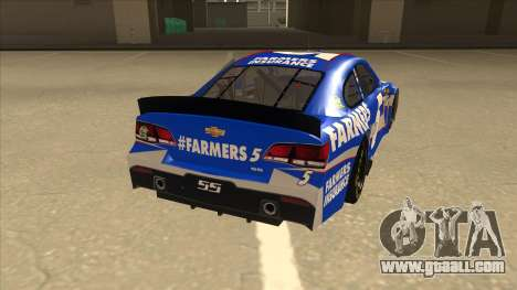 Chevrolet SS NASCAR No. 5 Farmers Insurance for GTA San Andreas right view