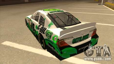 Toyota Camry NASCAR No. 19 G-Oil for GTA San Andreas back view