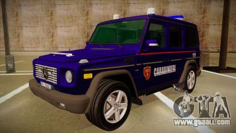 Mercedes Benz G8 Carabinieri for GTA San Andreas