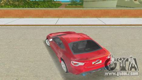 Subaru BRZ Type 3 for GTA Vice City side view