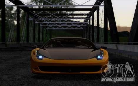Ferrari 458 Italia Novitec Rosso Carbon for GTA San Andreas right view