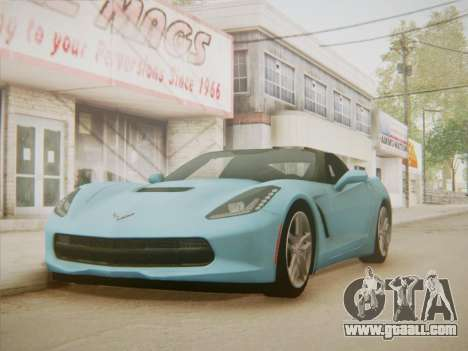 Chevrolet Corvette C7 Stingray 2014 for GTA San Andreas right view