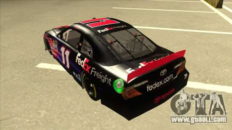 Toyota Camry NASCAR No. 11 FedEx Freight for GTA San Andreas back view