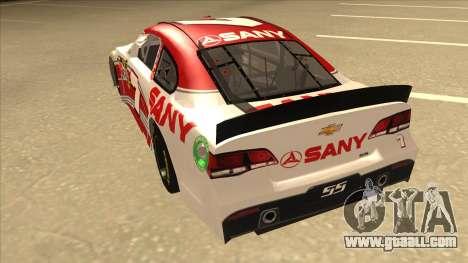 Chevrolet SS NASCAR No. 7 Sany for GTA San Andreas back view