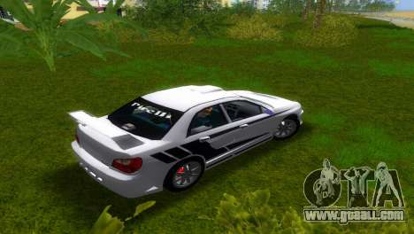 Subaru Impreza WRX v1.1 for GTA Vice City back left view