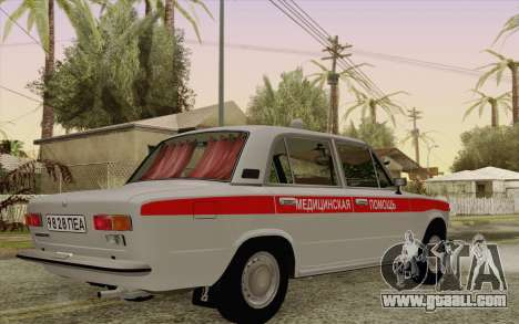 VAZ 21011 medical assistance for GTA San Andreas back view