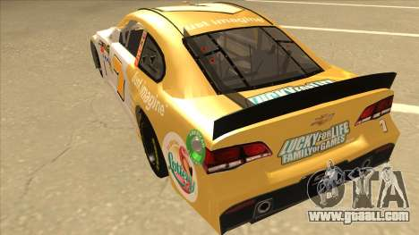 Chevrolet SS NASCAR No. 7 Florida Lottery for GTA San Andreas back view