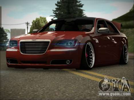 Chrysler 300C Stance for GTA San Andreas back view