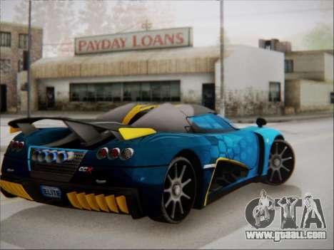 Koenigsegg CCX Elite for GTA San Andreas left view