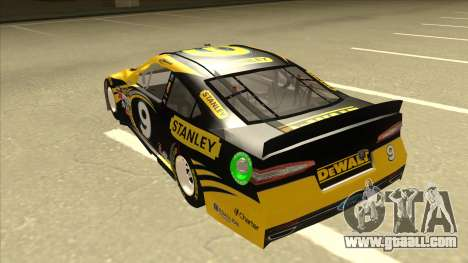 Ford Fusion NASCAR No. 9 Stanley DeWalt for GTA San Andreas back view