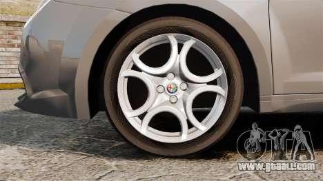 Alfa Romeo MiTo for GTA 4 back view
